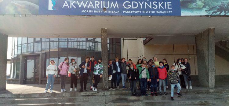 Klasa 7d na warsztatach w Oceanarium